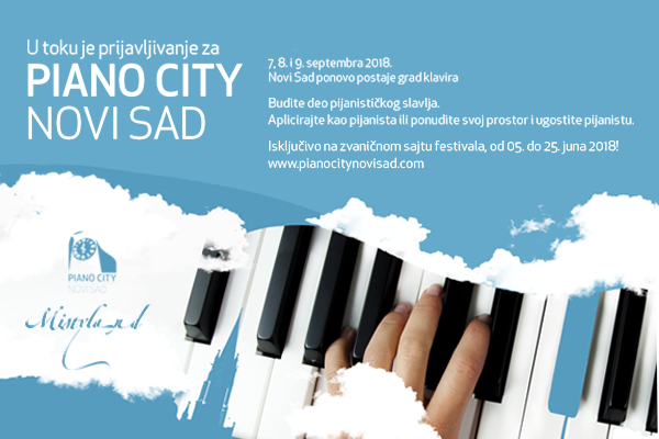 Piano City Novi Sad, the 7th-9th of September