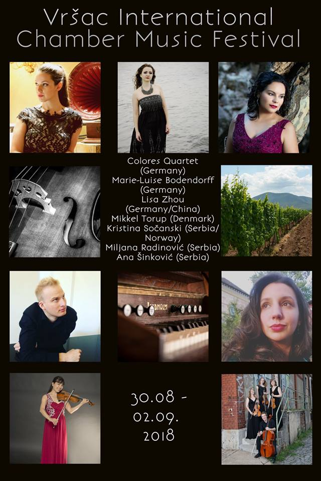 Vrsac International Chamber Music Festival, the 30th of August-2nd of September