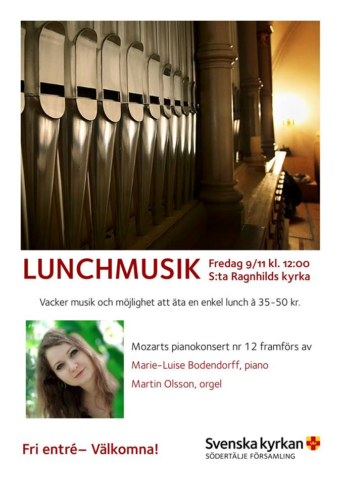 Concert at St:a Ragnhilds Kyrka, Sweden, the 9th of November, 12pm