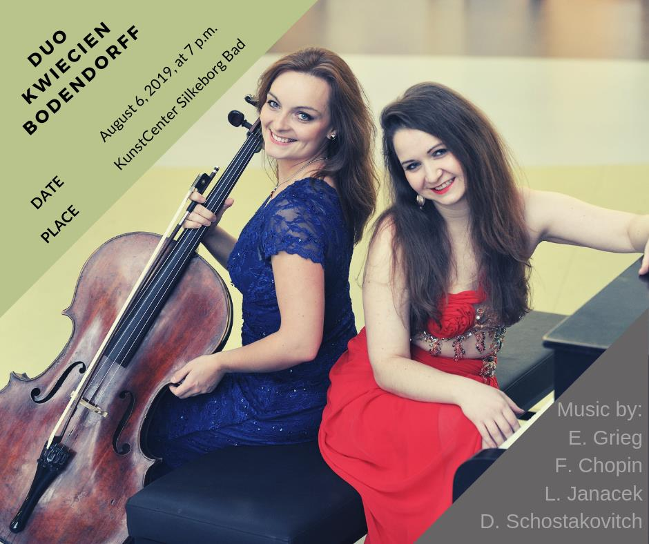 Duo concert with cellist Estera Kwiecien at Silkeborg Classic, the 6th of August