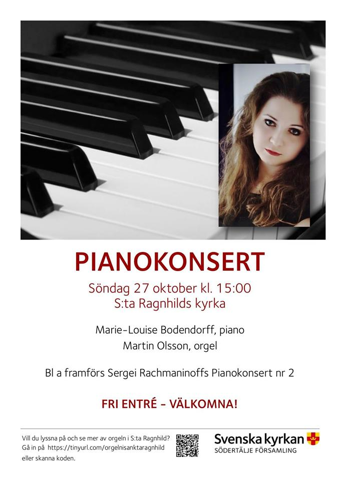 Concert at St:a Ragnhilds Kyrka, Sweden, the 27th of October, 3pm